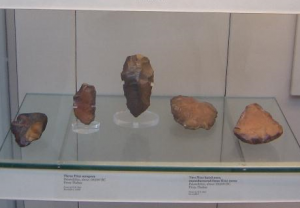 A wide variety of different Tools have been found on the site, including hand axes, knives, scrapers, spear points, sickles and querns.