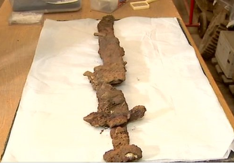 One of the only artefacts on the site, this sword was probably abandoned after it broke, suggesting a violent battle.