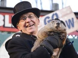 Punxsutawney Phil predicts 'crushing victory' for Jeb Bush during 2016 presidential campaign