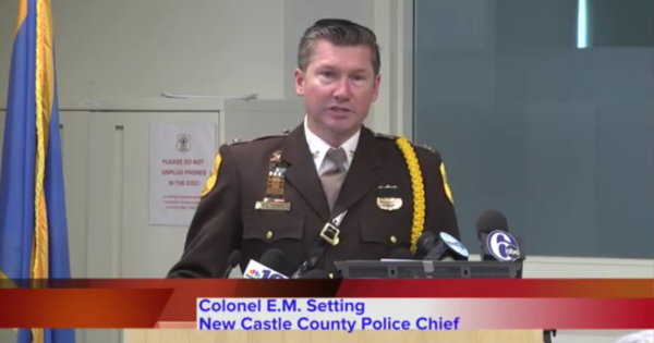 New Castle County Police Chief Colonel Elmer M. Setting congraluted the investigators who worked on this case, saying they had solved