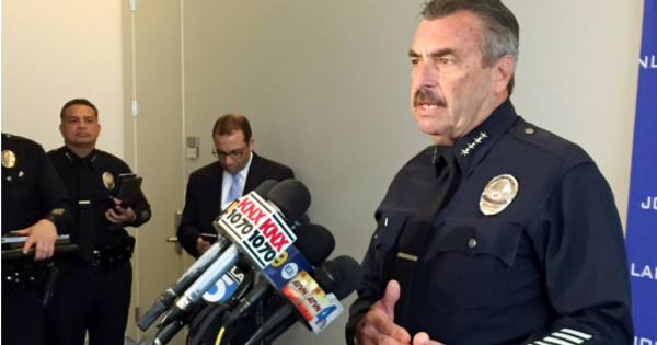 According to Police Chief P.J. Jackson of the LAPD, Crow was first intercepted by security agents after breaking into a restricted area of the LADWP with a modified milk truck tanker carrying an estimated 11,600 gallons or 43,900 liters of the synthetic hallucinogen 251-NBOMe.