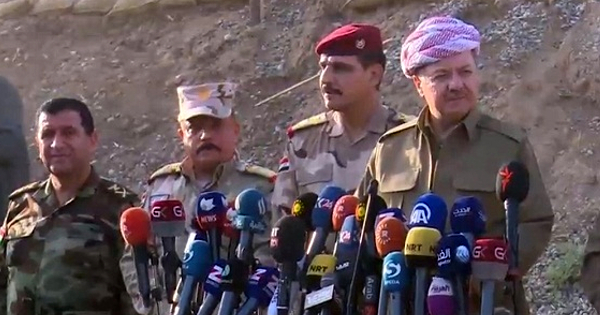 The Peshmerga General Command held a press conference just outside the village before inviting the media to visit the alleged brothel.
