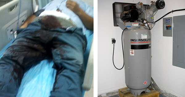 How To Use An Air Compressor >> Man Emasculated After Trying To Use Air Compressor To