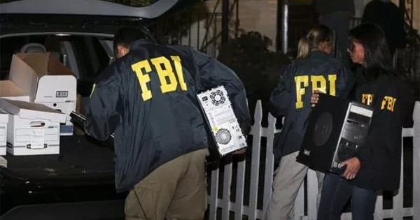 FBI agents seized 14 computers at Harry Muff's home on Wednesday containing no less than 53 terabytes of illegally downloaded pictures and documents from the National Security Agency.